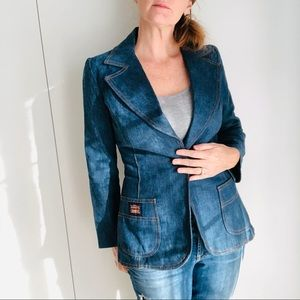 VTG 60s Big E Levis Denim Jacket/Blazer Small
